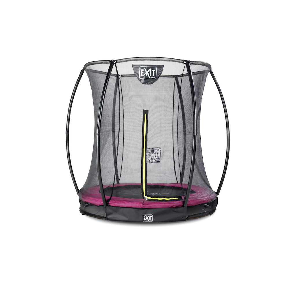 EXIT Silhouette inground trampoline ø183cm met veiligheidsnet- roze