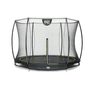 EXIT Silhouette inground trampoline ø244cm met veiligheidsnet- zwart