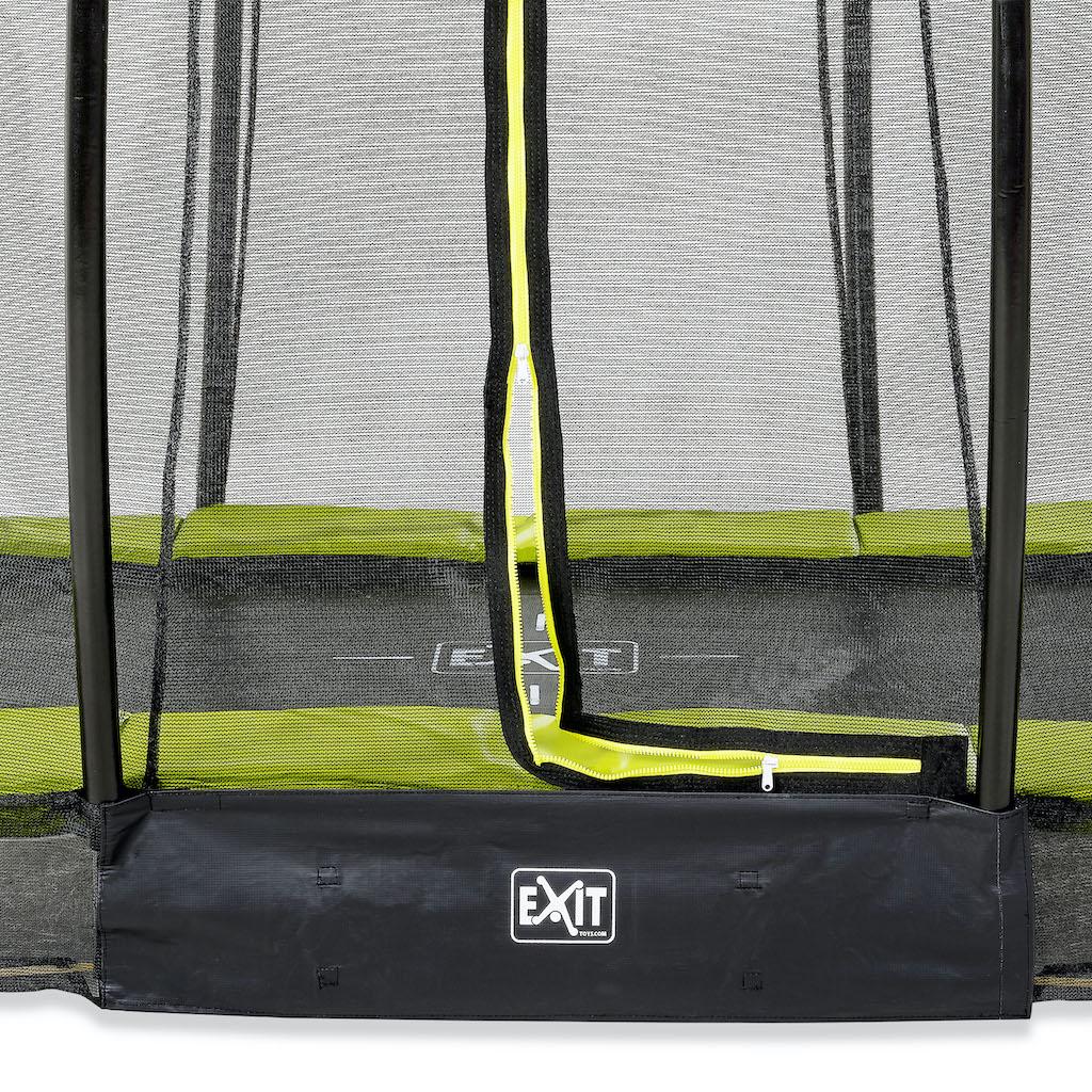 Trampoline de sol EXIT Silhouette ø244cm avec filet de sécurité - vert