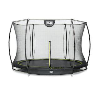 EXIT Silhouette inground trampoline ø305cm met veiligheidsnet- zwart