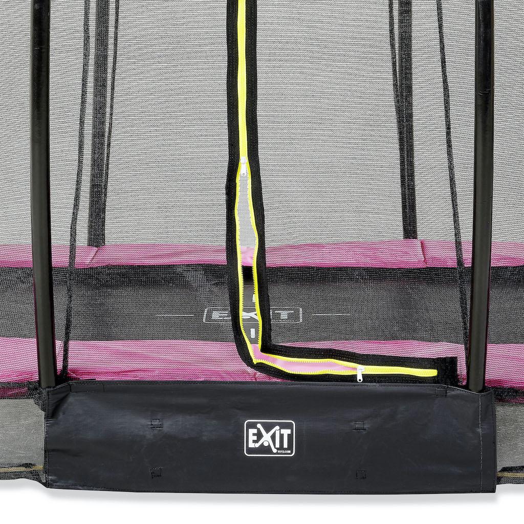 EXIT Silhouette inground trampoline ø305cm met veiligheidsnet- roze