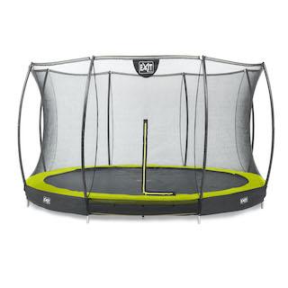 EXIT Silhouette inground trampoline ø366cm met veiligheidsnet- groen