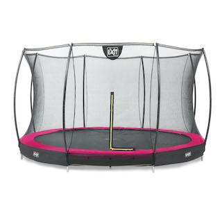 EXIT Silhouette inground trampoline ø366cm met veiligheidsnet- roze