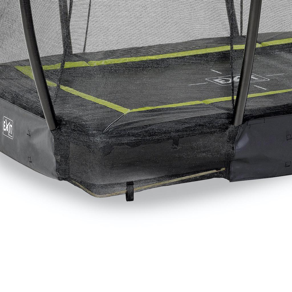 EXIT Silhouette inground trampoline 153x214cm met veiligheidsnet- zwart