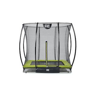 EXIT Silhouette inground trampoline 153x214cm met veiligheidsnet- groen