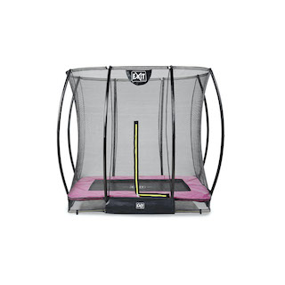 EXIT Silhouette inground trampoline 153x214cm met veiligheidsnet- roze
