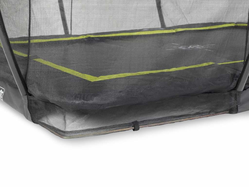 EXIT Silhouette inground trampoline 214x305cm met veiligheidsnet- zwart