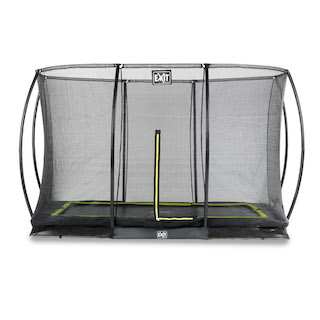 EXIT Silhouette inground trampoline 244x366cm met veiligheidsnet- zwart