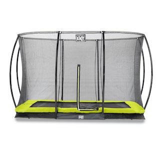 EXIT Silhouette inground trampoline 244x366cm met veiligheidsnet- groen