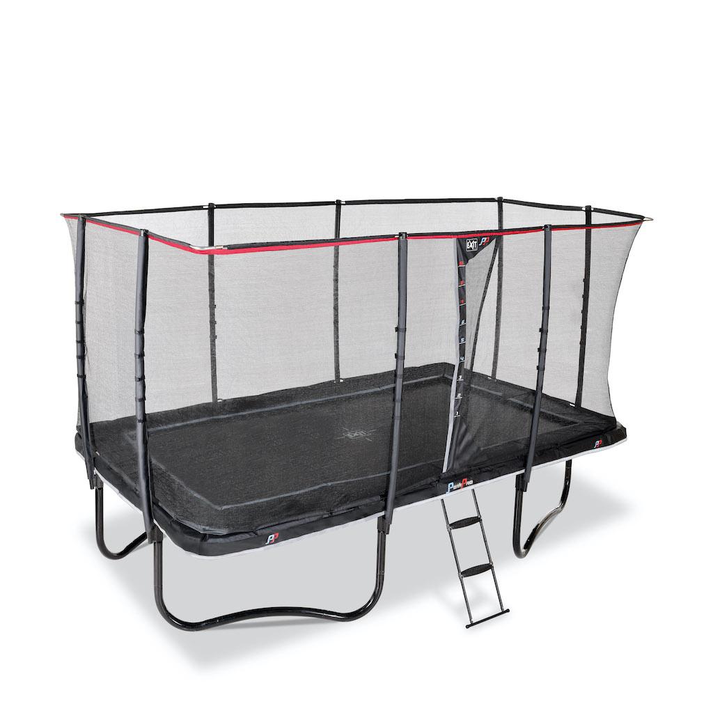 EXIT PeakPro trampoline 244x427cm - zwart