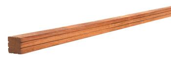 <BIG><B>AV Hardhouten paal geschaafd met V-groef, gepunt 8,5 x 8,5 x 200 cm</B></BIG>