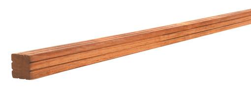 <BIG><B>AV Hardhouten paal geschaafd met V-groef, gepunt 6,5 x 6,5 x 275 cm.</B></BIG>