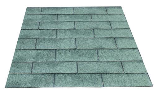 <BIG> <B> Bardeaux de toit par paquet de 3 m2, vert. </B> </BIG>