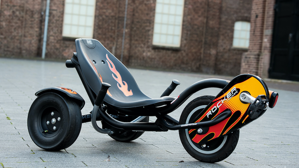 EXIT Rocker Fire driewieler Kinderen Pedaal Liggend