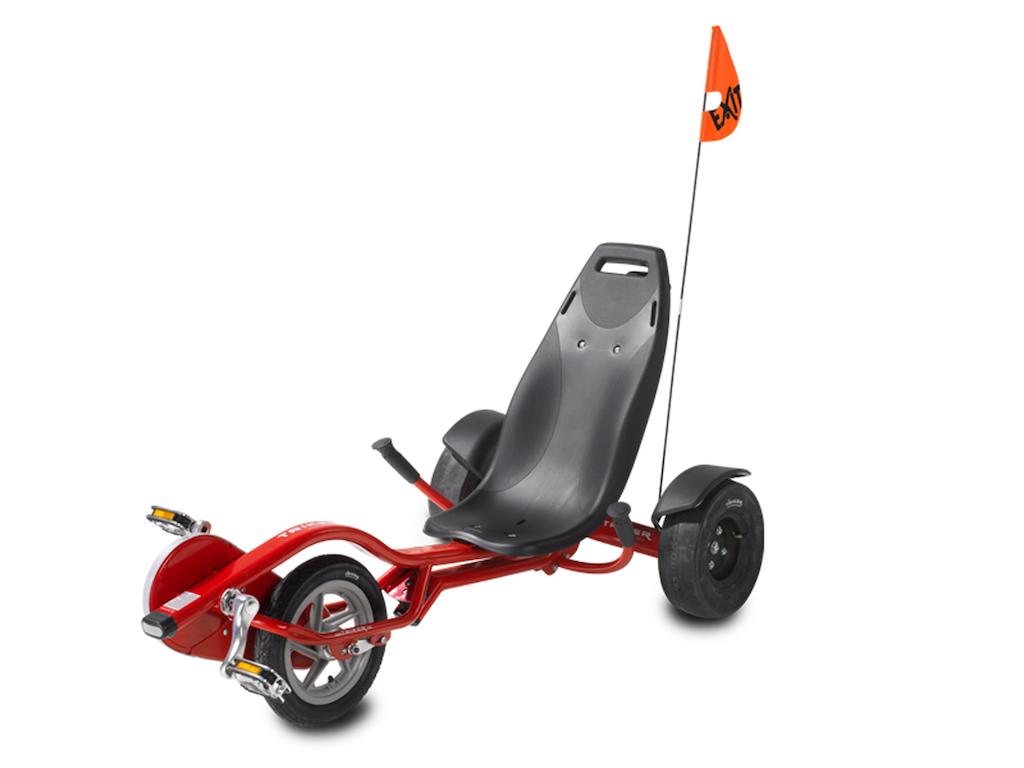 EXIT Triker Pro 100 Red driewieler Jongeren Vooraandrijving Liggend