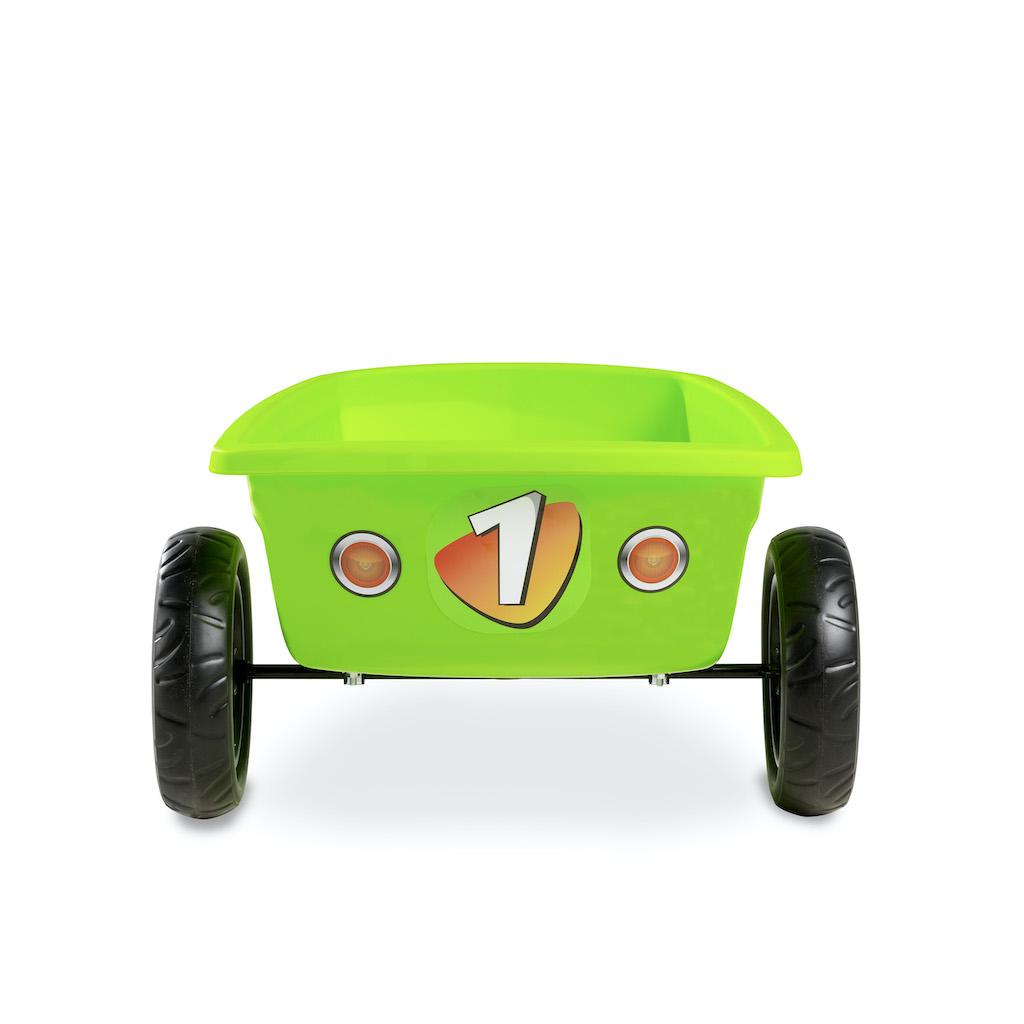 EXIT Foxy Green kart à pédales avec remorque - vert
