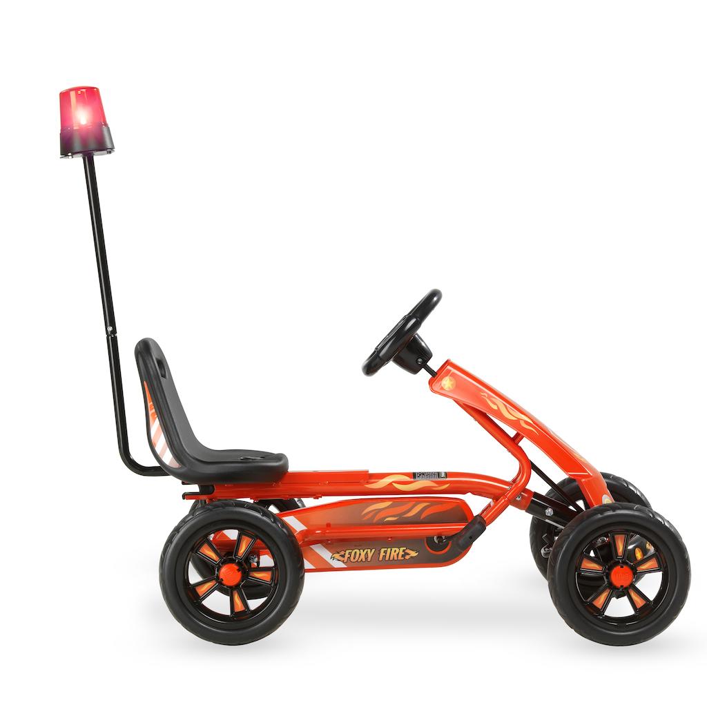 Kart à pédales EXIT Foxy Fire avec remorque - rouge