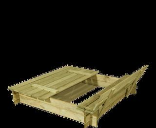 Bac à sable Duosand avec banc et le couvercle