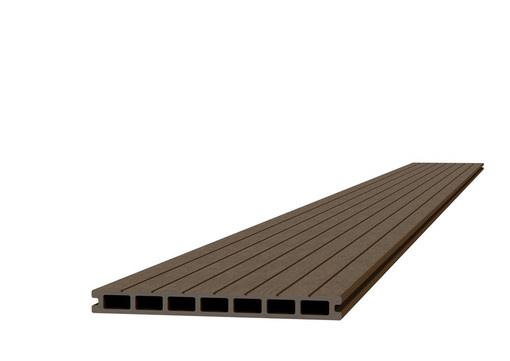 <BIG> <B> Platelage composite 2,3 x 25,0 x 420 cm, marron. </B> </BIG>
