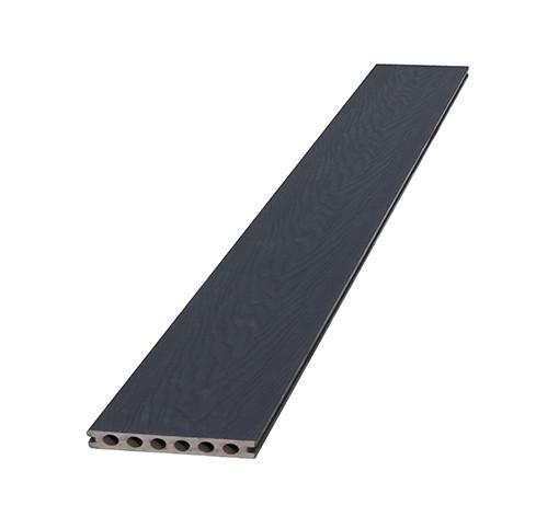 <BIG><B>Composiet dekdeel houtstructuur + co-extrusie 2,3 x 14,5 x 420 cm, zwart.</B></BIG>