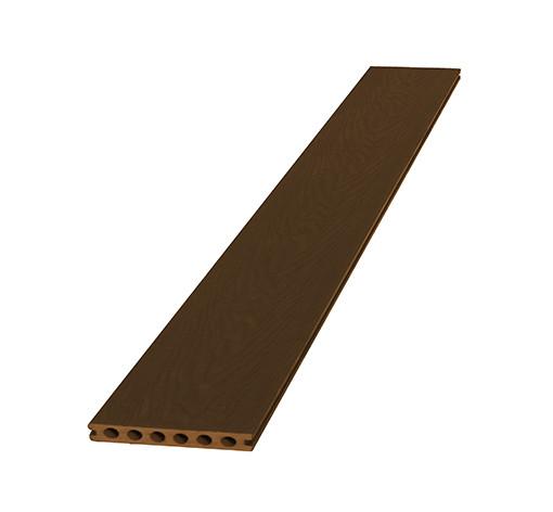 <BIG><B>Composiet dekdeel houtstructuur + co-extrusie 2,3 x 14,5 x 420 cm, bruin.</B></BIG>