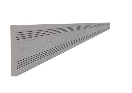 <BIG><B>Composiet afdeklat 0,8 x 6,3 x 300 cm, grijs.</B></BIG>