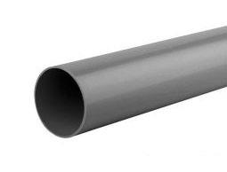 <BIG><B>Hemelwaterafvoer PVC Ø 8 cm, 275 cm, lang. Incl. 2 klemmen, 2 bochten en bevestigingsmaterialen.</B></BIG>