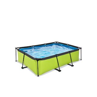 EXIT Lime zwembad 220x150x65cm met filterpomp - groen