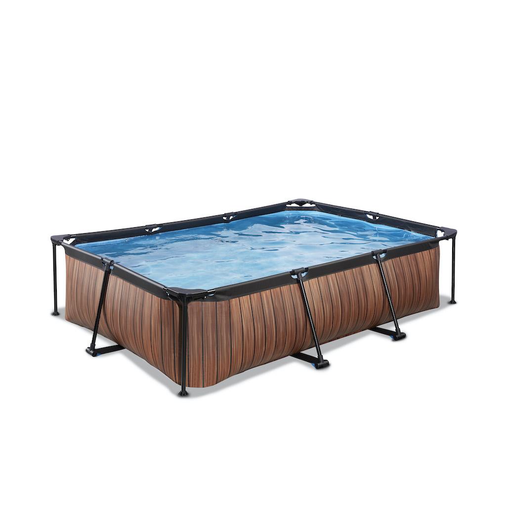 EXIT Piscine bois 300x200x65cm avec pompe filtrante - marron