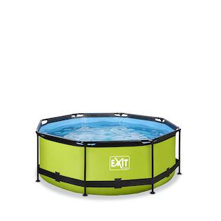 EXIT Lime zwembad ø244x76cm met filterpomp - groen