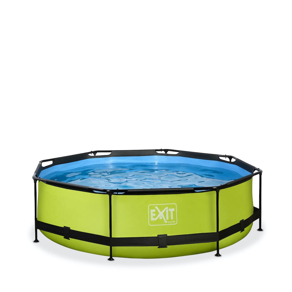 EXIT Piscine à la chaux ø300x76cm avec pompe de filtration - vert