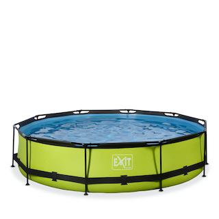 EXIT Lime zwembad ø360x76cm met filterpomp - groen