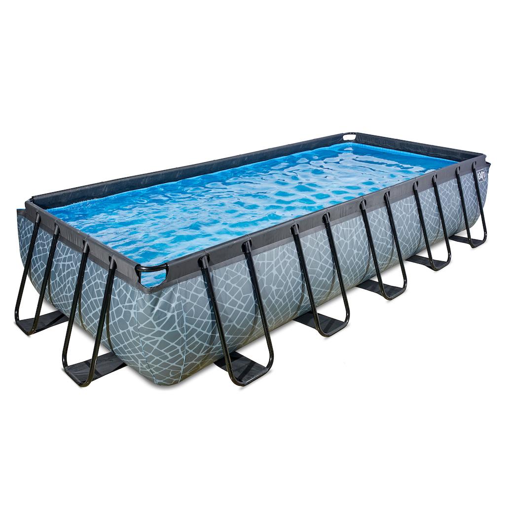 EXIT Stone piscine 540x250cm avec pompe de filtration - gris