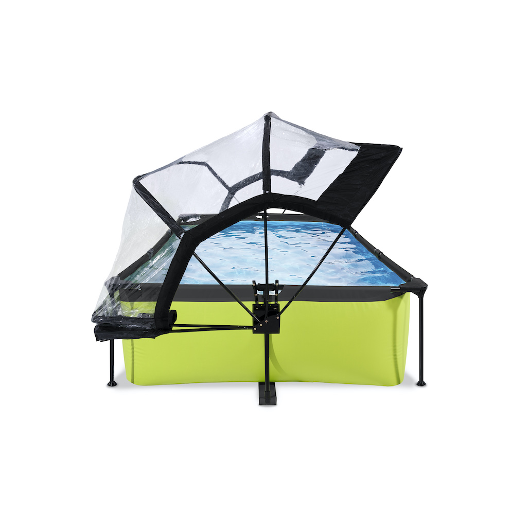 EXIT Lime zwembad 220x150x65cm met overkapping en filterpomp - groen