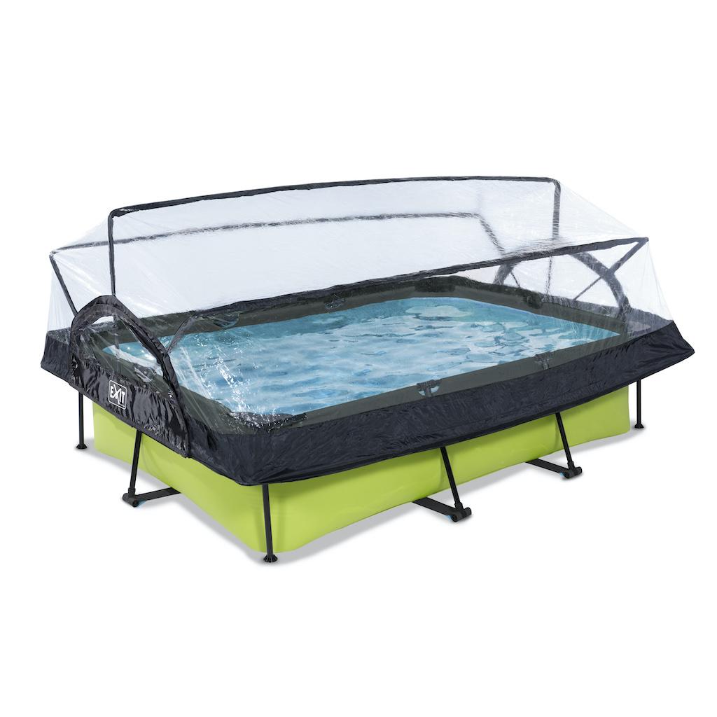 EXIT Lime zwembad 300x200x65cm met overkapping en filterpomp - groen