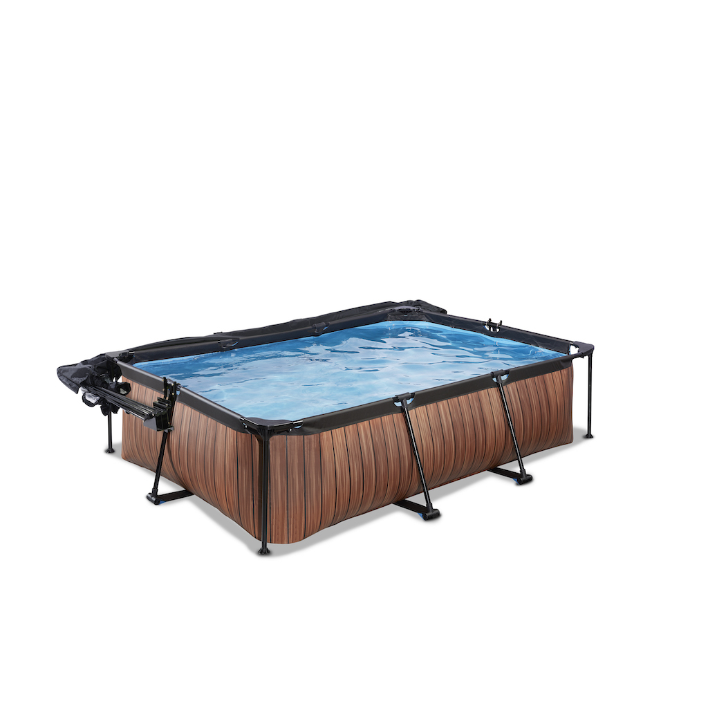 EXIT Piscine bois 220x150x65cm avec couvercle