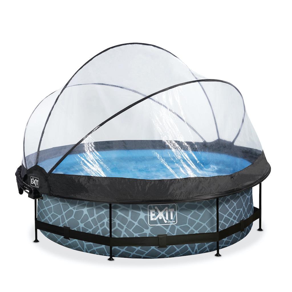 EXIT Stone pool ø300x76cm avec couvercle