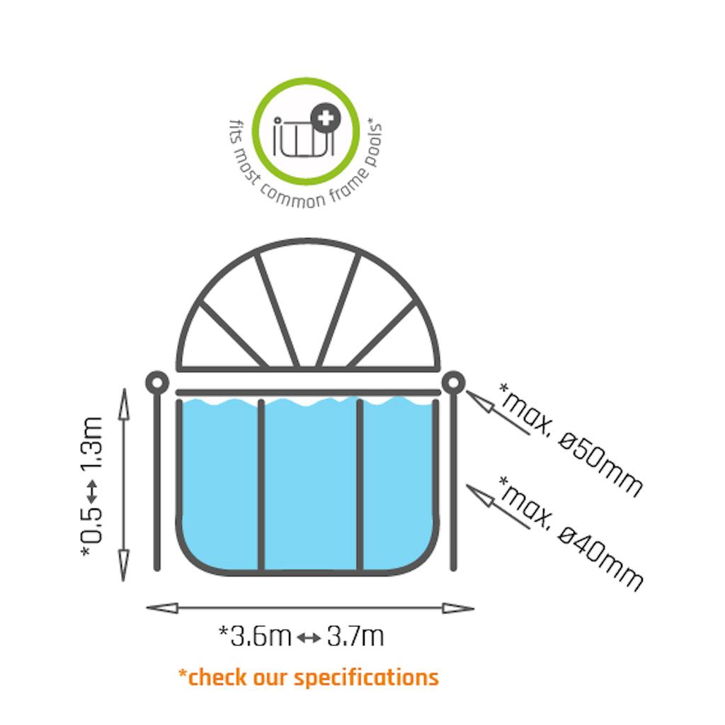 Toile d'ombrage de piscine EXIT Ø360cm