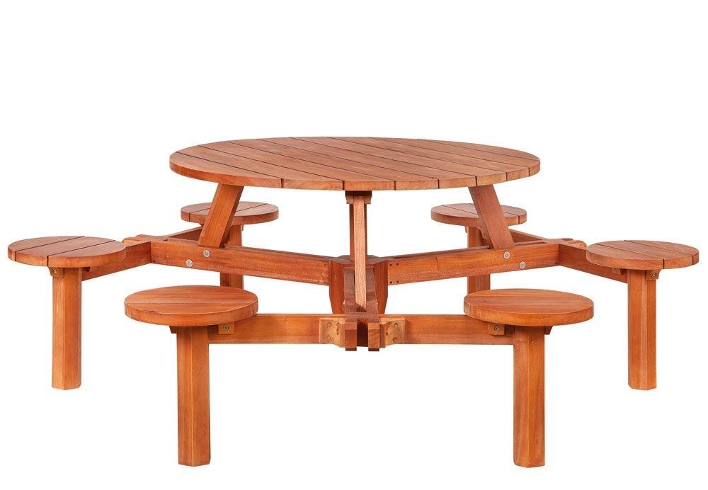 <BIG><B>Hardhouten picknicktafel Rondo</B></BIG>