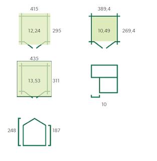 Blokhut Montreal | 415 x 295 + 10 cm