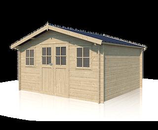 Cabane en bois Montréal XL | 415 x 385 + 20 cm