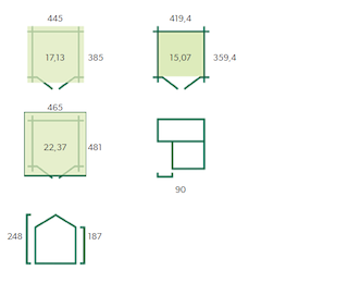 Blokhut Saskatoon XL | 445x385 cm