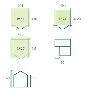 Blokhut Winnipeg XL | 505x385 cm