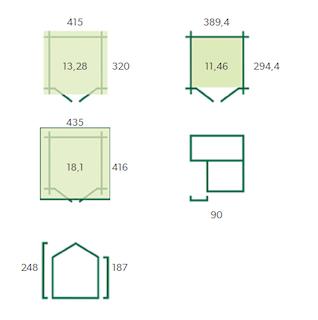 Blokhut Quebec | 415 x 320 + 90 cm
