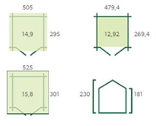 Blokhut Base | 385 x 295 cm