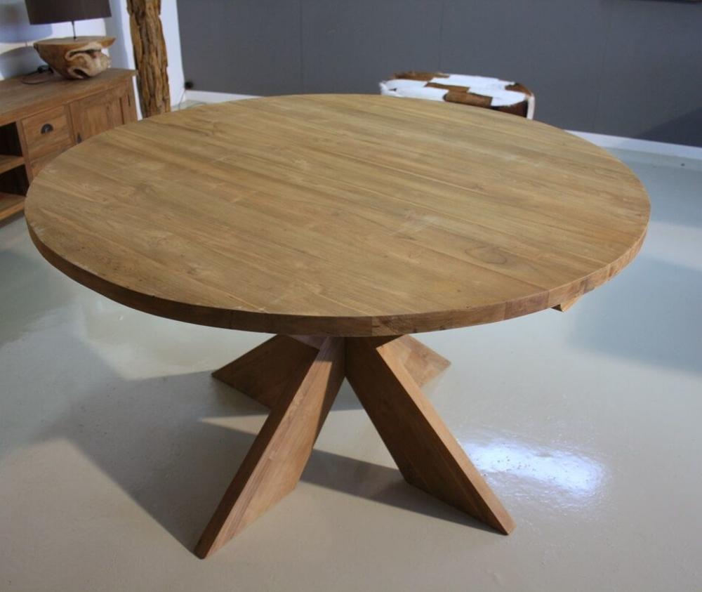 <BIG><B>Tuintafel rond met kruispoot (diameter 150 x 75 cm)</B></BIG>