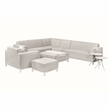 <BIG><B>Textileen loungeset Colorado Springs licht grijs fauteuil (87 x 85 x 68cm)</B></BIG>