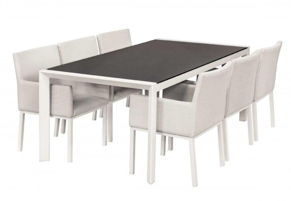 <BIG><B>Service de table en textile Montgomery blanc</B></BIG>