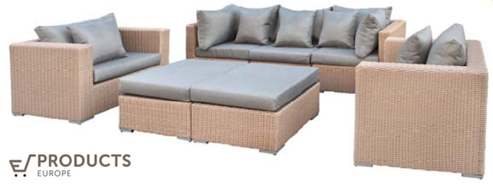 <BIG><B>Wicker loungeset (2 colli) Long Beach</B></BIG>