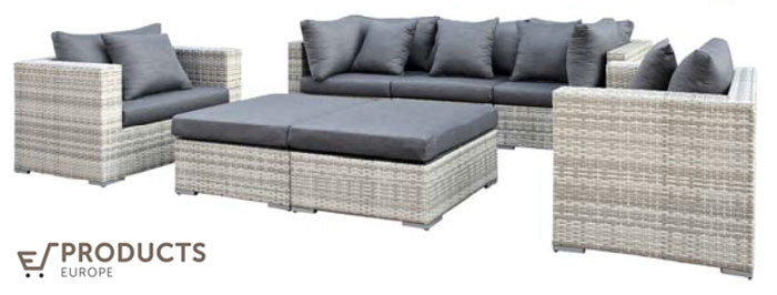 <BIG><B>Wicker loungeset (2 colli) Glendale</B></BIG>